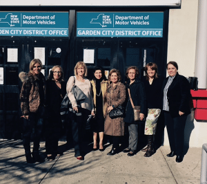 Pictured, from left, are: Dalida Kashani Khezri, Lily Kashani, Assemblywoman Michelle Schimel, Councilwoman Anna Kaplan, Parvaneh Khodadadian, Shahnaz Kashani, Town Department of Services for the Aging/Community Services Commissioner Kimberly Corcoran-Galante and Yafa Soleiman.