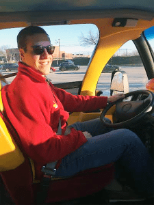 Jason Hoffman is an Oscar Mayer Wienermobile driver.