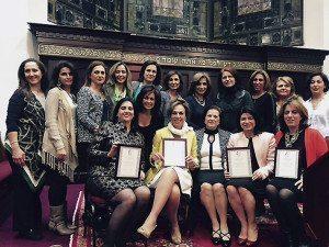 From left, front row: Honorable Mojgan Lancman, panel member; Mahnaz Rabizadeh, IMA vice president; Dr. Maryam Broukhim, panel member; Parvaneh Sarraf, IMA president; Councilwoman Anna Kaplan, panel member; and Jacqueline Harounian, attorney and panel member; back row: IMA Board Members Shida Mizrahi, Farangiss Sedaghatpour, Sima Alvandi, Edna Khalily, Nora Khalili, Farnaz Simhaee (IMA vice president), Madeline Yousefzadeh, Flora Simhaee, Shideh Ahdoot, Helen Lalezari and Sheila Soufian; and not pictured: Board Member Mina Khordipour