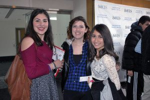 From left: Jacueline Letta, Kayla Orefice and Brittany Hernandez attended the Billy Joel event.