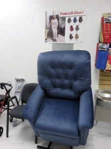Town Pharmacy ordered this lift chair for a customer who had trouble getting up.