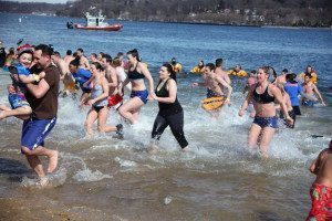Brave souls take part in a recent Polar Plunge.