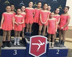 The Icicles placed fourth in their competition.