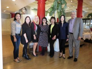 From left: GNAC's Chenxin Xu of New York Music & Arts, Great Neck Record Managing Editor Sheri ArbitalJacoby, Anton Publisher Angela Susan Anton, GNCA President Shuna Luk, GNCA Total Community Involvement Committee Chair Alice Ngai-Tsang, GNCA Communications Chair Mimi Hu and Anton President Frank Virga
