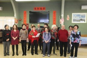 A chorus performance by Teacher Susan's English class