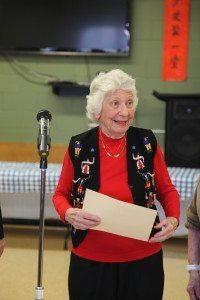 Joan Antonoff receiving the Gratitude Award