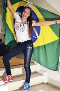 Emilia Pedersen recently started her position as junior ambassador for Love Together Brasil.  (Photo by Claudia Knutsson)