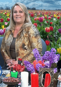 Producer/host Yafa Soleimani is on set for her special Persian New Year program at the PATV studio.