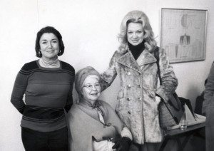 From left: Ilise Greenstein, Alice Neel and June Blum at the 1978 opening