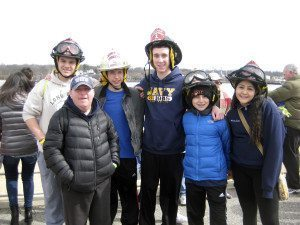 From left: Alert junior firefighter James Kessler, Special Olympics athlete Erin Lipinsky, Junior Captain Ryan Motchkavitz, Junior firefighter Ben Kobliner, First Lieutenant David Oginski and Financial Secretary Natasha Castro