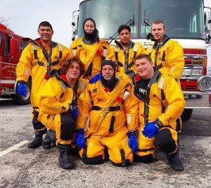 From left, top row: Dagoberto Rodriguez, David Hertz, Edwin Sosa, Joseph Buckler; front row: Tyler Plakstis, Raymond Plakstis, Jr., and Ryan Plakstis
