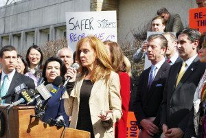 Sue Auriemma spoke on the need for more police protection and services.