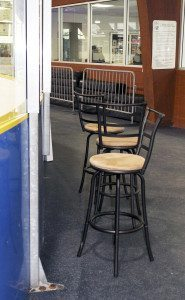 These stools are positioned under the heaters and provide spectators with a bird's-eye view, keeping them warm and comfortable even on the coldest days.