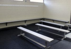 Here's a before picture of a locker room.