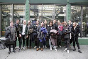 The LIU Post soccer team trekked to New York City to dole out some warm winter wear.