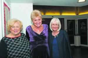 From left: County Legislator Judy Jacobs, Joanne Borden and Supervisor Judi Bosworth.