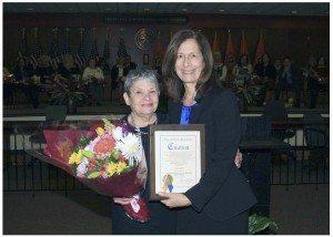 From left: Lois Schaffer and Legislator Ellen W. Birnbaum