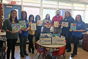 GNTA delivered books for use by the children at COPAY.