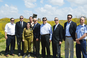 Rep. Israel and a congressional delegation visiting an Iron Dome battery in Ashkelon