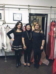 From left: Sandy Benilevi, Councilwoman Anna Kaplan and Sarah Hakimi