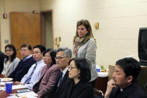 Lori Beth Schwartz (standing) presided over the meeting.