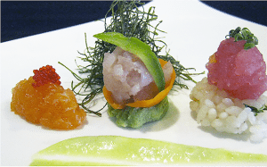 Laverne of Great Neck offers Japanese, French fusion and Thai cuisine.