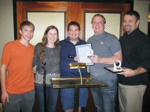 From left: Ryan Motchkavitz, vice president; Ally Mittler, copresident; Jonathan Perlman, copresident; John Motchkavitz; and Michael Passuello