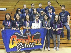 South High School's winning Science Olympiad team