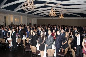 SHAI gala attendees rose for the USA and Israeli national anthems.
