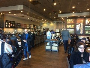 A week later, it's business as usual inside Starbucks.