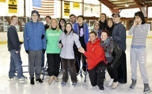 The therapeutic skaters are on the ice with park and school district staff. (Photos by Michele Siegel)