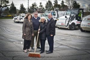 From left: Councilwoman Lee Seeman, Superintendent of Highways Tom Tiernan, Supervisor Judi Bosworth and Councilman Peter Zuckerman at last year's Operation: Clean Sweep