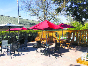 The patio at Alley Pond Sports Bar & Grill