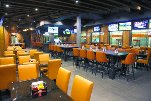 The interior of the Alley Pond Sports Bar & Grill