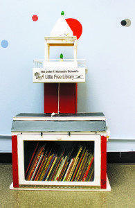 The Free Standing Library that can now be found in the Playscape.