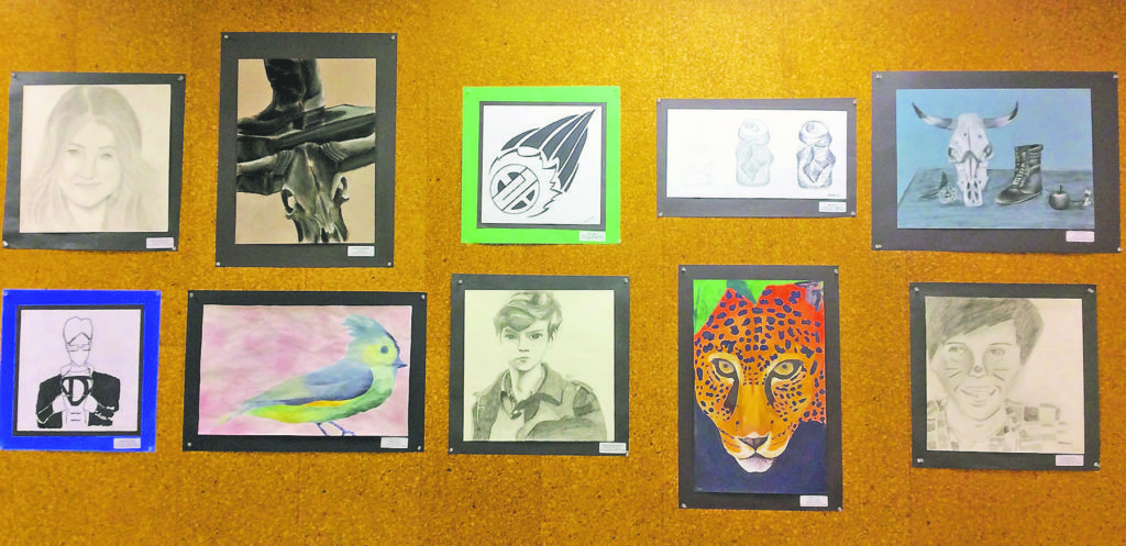 A variety of mediums will be displayed at South Middle's Art Show.
