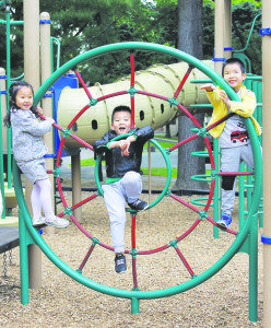 The playground was a great place to hang out with friends.