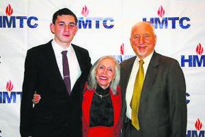 From left: award recipient Brett Rabinowitz, Holocaust survivor Charlotte Gillman and Steven Markowitz, chairman of the Holocaust Memorial & Tolerance Center of Nassau County