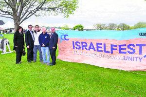 From left: Town of North Hempstead Councilwoman Lee Seeman; Town Clerk Wayne Wink; Nadav Eylon, Sid Jacobson JCC director of the Center for Israel; David Black, Sid Jacobson JCC executive director; and Councilman Peter Zuckerman