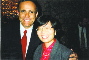 Lily with former Mayor Rudy Giuliani