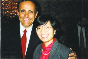 Lily with former Mayor Rudy Giuliani