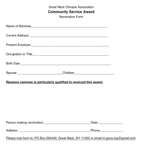 Lily Nomination Form for Online