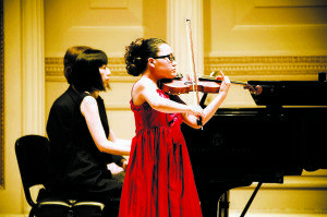 NYMA student Rina Hondo performed at Carnagie Hall.