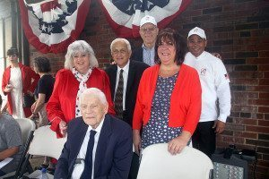 Great Neck Board of Education members with Dr. William A. Shine for whom Great Neck South High was named.