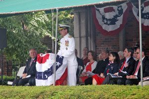The Grand Marshal was Rear Admiral James Helis, USMS, USMMA Superintendent.