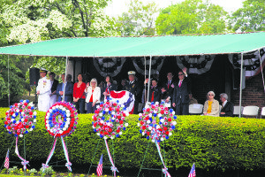 Local leaders remember the fallen during the Great Neck Memorial Day Parade ceremony.