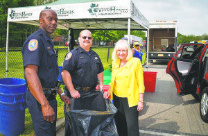 Supervisor Judi Bosworth with members of the Nassau County Police department at a recent STOP event