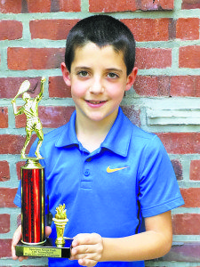 Jordan Reznik received an award from the USTA for being the #1 ranked player from Long Island in the 10's division.