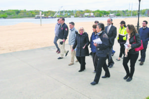 Town Supervisor Judi Bosworth and Quennell Rothschild & Partners representatives toured North Hempstead Beach Park to begin visioning the redesign of the nearly 90-acre park.