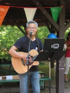 Youngsoo Choi, Great Neck Korean American Civic Association board member, serenaded the crowd.